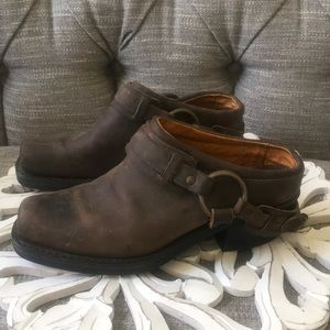 Frye Harness Boot Clogs Shoes Woman's 7.5